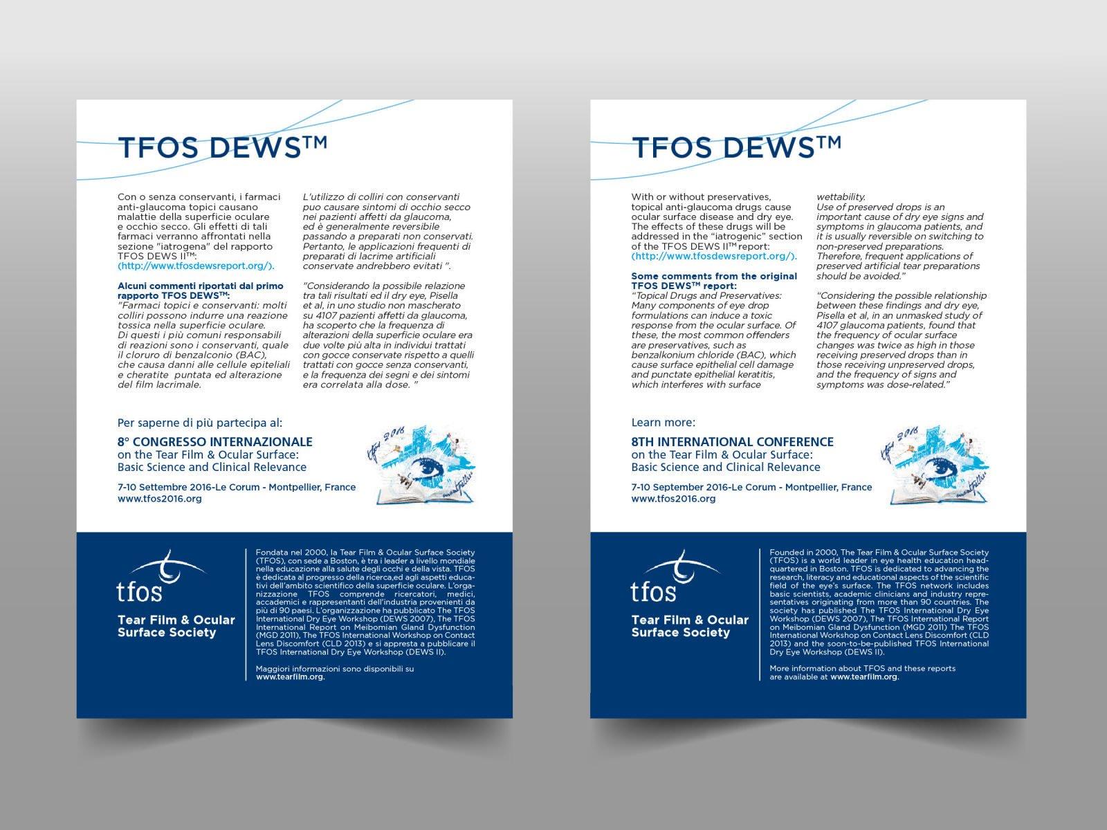 Adversign per TFOS - Tear Film & Ocular Surface Society
